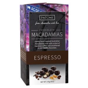 Artisan Dark Chocolate Espresso Macadamias